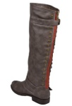 Brinley Co Womens Studded Buckle Detail Boots