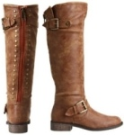 Steve Madden Boots With Red Zipper