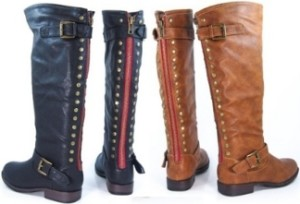 Montage Red Zipper Boots