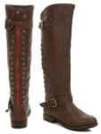 Montage83 Knee High Contrast Zipper Riding Boot