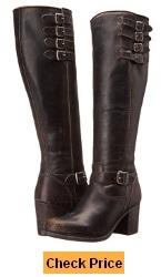 FRYE Women's Kelly Belted Tall-WSHOVN Harness Boot