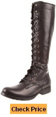 FRYE Women's Melissa Tall Adjustable Calf Lace Up Boots