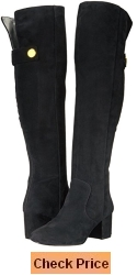 Nine West Women's Queddy Suede Over the Knee Boot