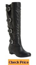 Comfortview Women's Plus Size Frankie Wide Calf Boot