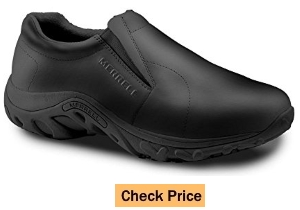 Merrell SureGrip Mens Jungle Moc SG Black Casual Slip Resistant Work Shoes