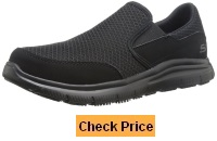 Skechers for Work Men's 77048 Flex Advantage Slip Resistant Mcallen Slip On