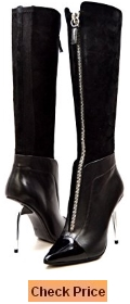 SoleMani Women's Slim Collection French Leather - Suede Dress boots