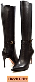 SoleMani Women's X-Slim Collection Noosh Leather Dress boots