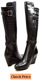 Solemani Slim Collection Women's Tally Leather Wedge Boot