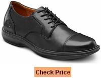 Dr Comfort Men's Captain Black Diabetic Dress Shoes