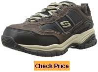 Skechers for Work Men's 77013 Soft Stride Grinnel Slip Resistant Steel Toe Work Shoe