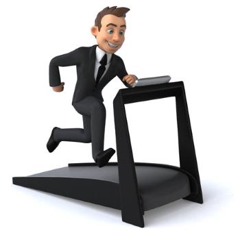 Businessman of Treadmill