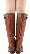 tofu Normalización Superioridad  Red Zipper Boots - A Must Have Pair - Find My Footwear