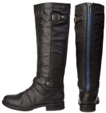 Blue Zipper Madden Girl Zuzu Boots