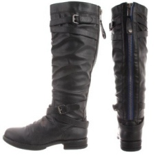 Madden Girl Women's Blue Zipper Zerge Boots
