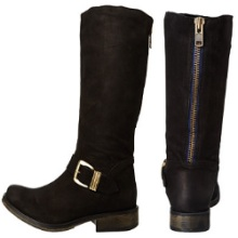 Steve Madden Fllash Blue Zipper Boots