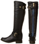 blue zipper boots