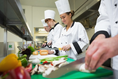 Female Chefs in a Professional Kitchen
