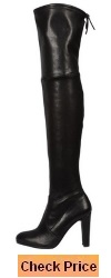 Cicime Women's Melanio Chunky High Heel Pointed Toe Thigh-High Boots