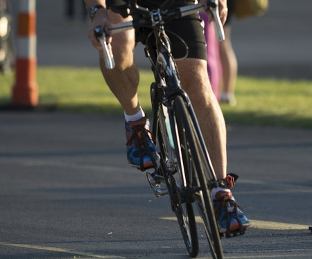 Male Cyclist Racing