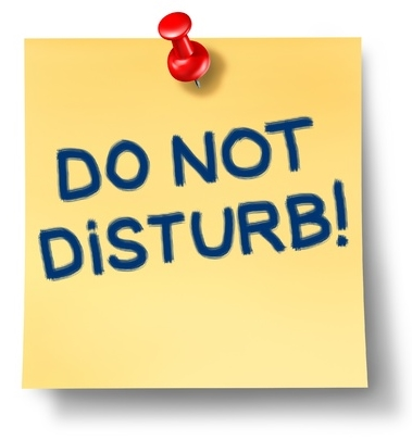 Do not Disturb on Post it Note