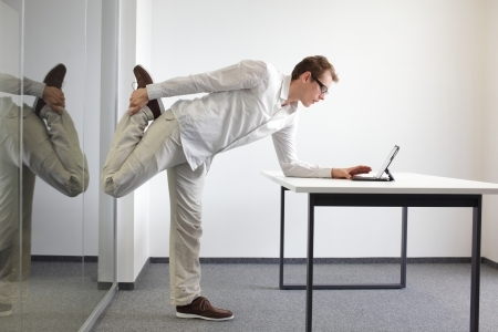 Leg Exercises Doing Office Work