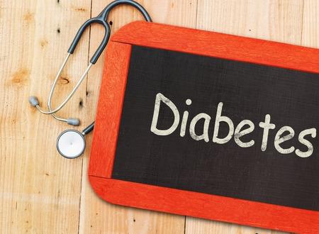 Diabetes Sign on Chalkboard