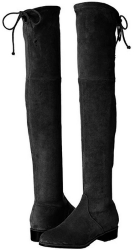 Kaitlyn Pan Microsuede Flat Heel Over The Knee Thigh High Boots