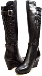 Solemani Slim Collection Tally Leather Wedge Boot