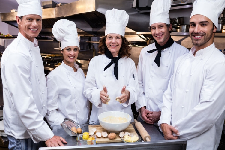 Group of Male and Female Chefs