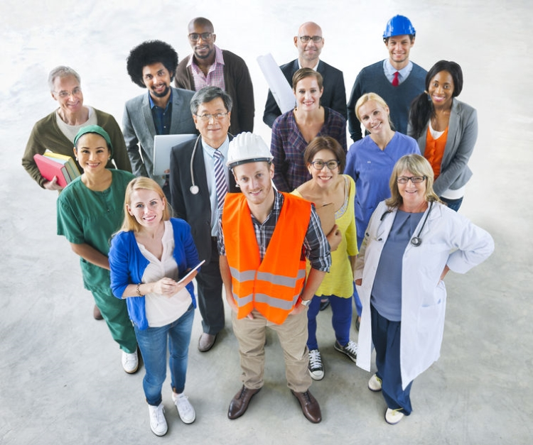 Group of Workers from Different Professions