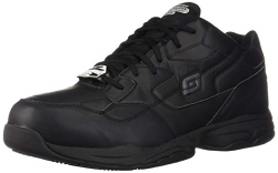 Skechers for Work Mens Felton Slip Resistant Relaxed-Fit Work Shoe