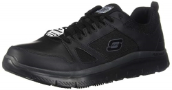 Skechers for Work Mens Flex Advantage Slip Resistant Oxford Sneaker