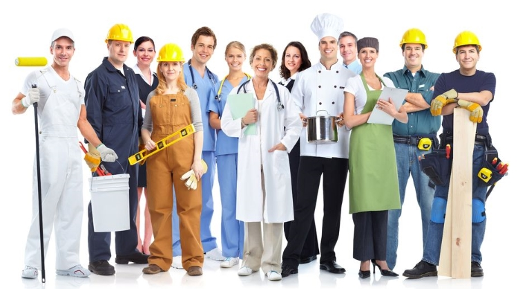 Workers from a Variety of Professions