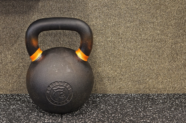 Kettlebell on the floor