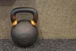 Kettlebell with Bright Orange Handle Tips