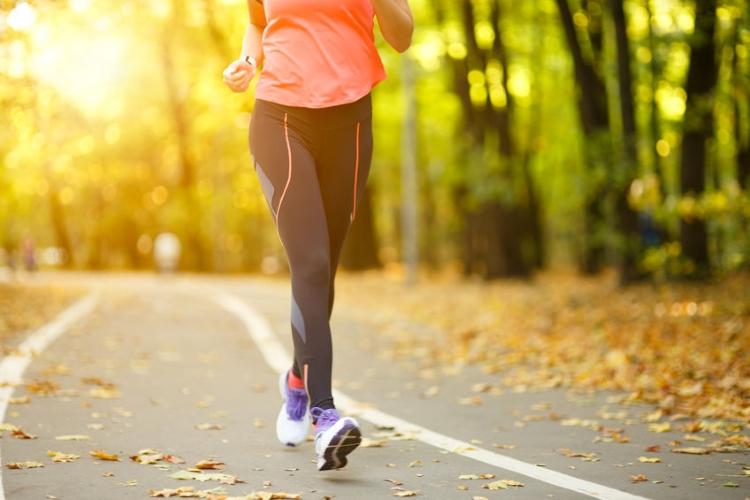 Woman Walking Fast