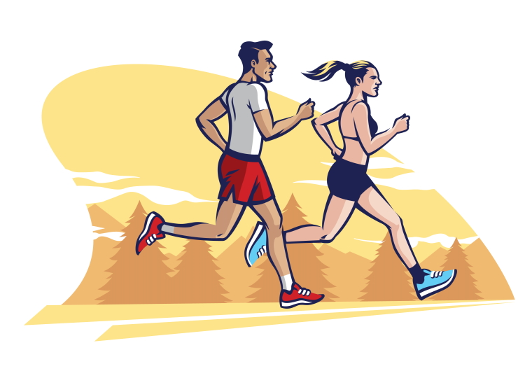 Couple Running Vector