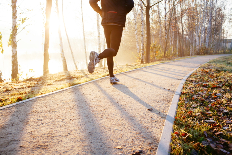 Man Running at Sunrise