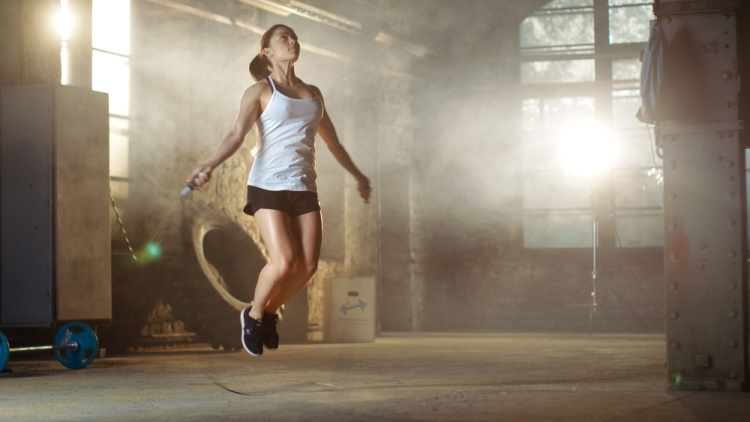 Exercising with Jump Rope